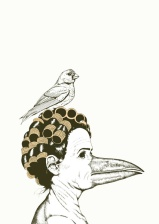 Artprint Birdlady