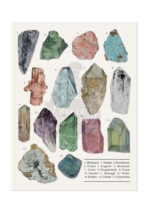 Artprint mineraler-blyerts, digital färgläggning